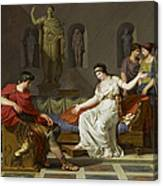 Cleopatra And Octavian Canvas Print