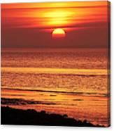 Clevedon Sunset Canvas Print