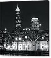 Cleveland Black Night Canvas Print
