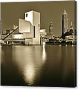 Cleveland In Sepia Canvas Print