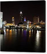 Cleveland Lakefront Nightscape Canvas Print
