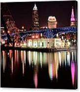 Cleveland Panoramic Reflection Canvas Print