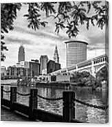 Cleveland River Cityscape Canvas Print