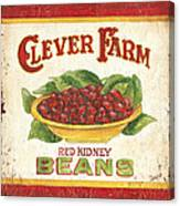 Clever Farms Beans Canvas Print