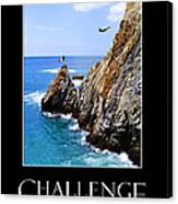 Cliff Divers Of Acapulco Canvas Print