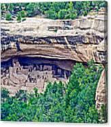 Cliff Palace From Chapin Mesa Top Loop Road In Mesa Verde National Park-colorado  Canvas Print