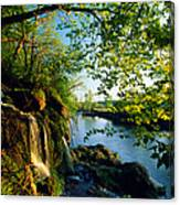 Cliffs And Trees Along Malanaphy Canvas Print