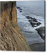 D3a6138-cliffs At Bolinas  Canvas Print