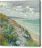 Cliffs By The Sea At Trouville  Canvas Print