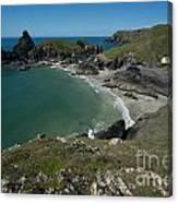 Cliffs In Bretagne Canvas Print