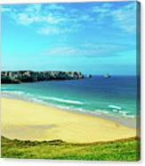 Cliffs In The Sea, Pointe De Pen-hir Canvas Print