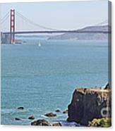 Cliffs Near Golden Gate Bridge Canvas Print