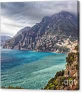 Cliffs Of Amalfi Coastline  Canvas Print