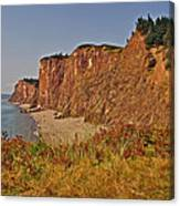 Cliffs Of Cape D'or From A Promontory Over Advocate Bay-ns Canvas Print