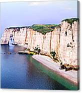 Cliffs Of Etretat 3 Canvas Print