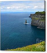 Cliffs Of Moher Looking North Canvas Print