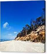 Cliffs On A Sunny Beach Canvas Print