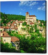 Cliffside Village Canvas Print