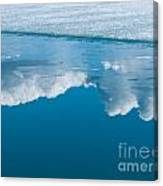 Climate Change Blue Arctic Water Reflected Clouds Canvas Print