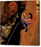 Climber, Red Rocks, Nv Canvas Print