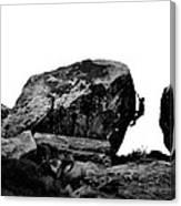 Climber Silhouette 4 Canvas Print