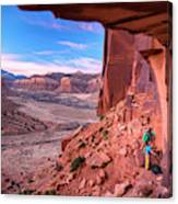 Climbers Getting Ready For Rock Canvas Print