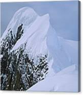 Climbers On Summit Ridge Of Mt Scott Canvas Print