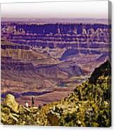 Climbing In Grand Canyon Canvas Print