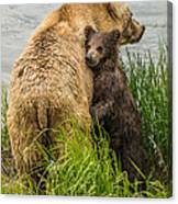 Clinging To Mom Canvas Print