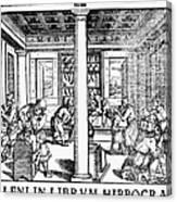 Clinic Scene, 1550 Canvas Print