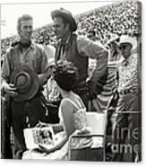 Clint Eastwood  Eric Fleming Characters Rowdy Yates Salinas California 1962 Canvas Print