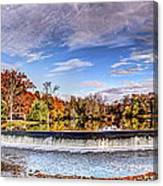 Clinton Nj Historic Red Mill Pano Canvas Print