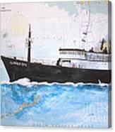 Clipper Epic Longline Fishing Boat Nautical Chart Map Art Canvas Print