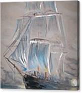 Clipper In Mist Canvas Print