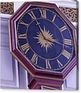 Clock In An Old Church Canvas Print