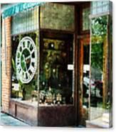 Clock Shop Canvas Print