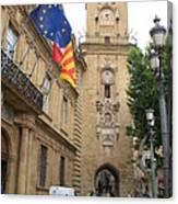 Clock Tower Aix En Provence Canvas Print