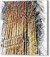 Clock Tower At Night Canvas Print