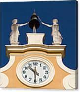 Clock Tower In Bardolino Canvas Print