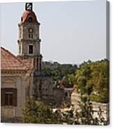 Clock Tower - Rhodos City - Roloi Canvas Print