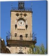 Clocktower - Aix En Provence Canvas Print