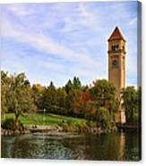 Clocktower And Autumn Colors Canvas Print