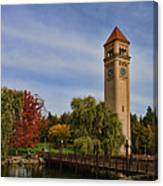Clocktower Fall Colors Canvas Print