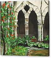 Cloister Courtyard Canvas Print