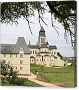 Cloister Fontevraud View - France Canvas Print