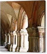 Cloister In Fontenay Abbey, France Canvas Print