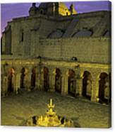 Cloisters At Sunset Arequipa Peru Canvas Print