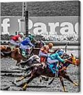 Close Finish At Turf Paradise Canvas Print