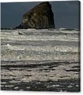 Close Haystack Rock Canvas Print