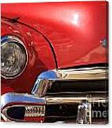 Close Up Of A Red Chevrolet Canvas Print